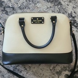 Kate Spade Black and Cream Colorblock Bag